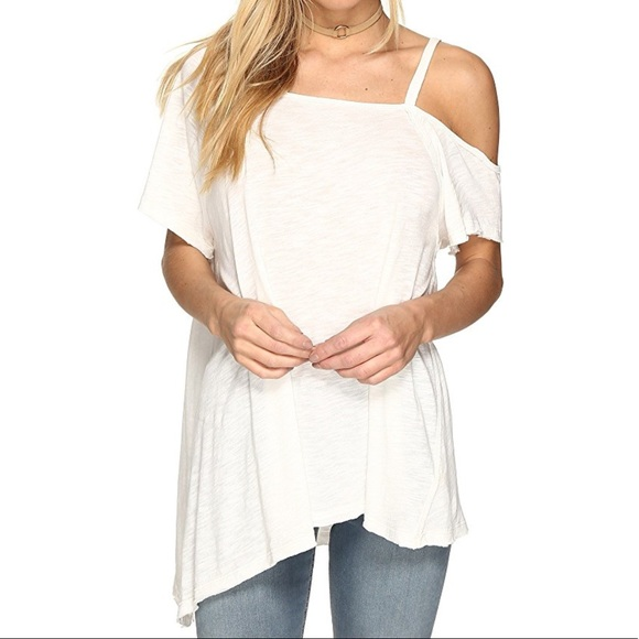 f6d9a6a767ee7 Free People White Coraline Tee T Shirt